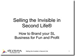 selling the invisible title page