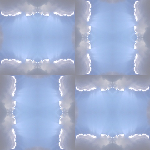 Cloud Sun Ray Mosaic