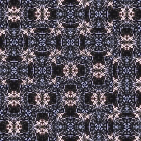 palm pine tree mosaic