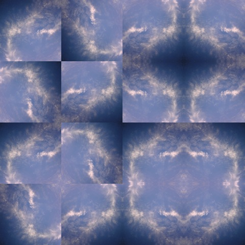 feather clouds mosaic