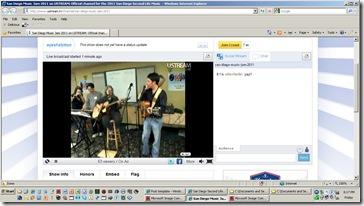 sdjam ustream screen shot