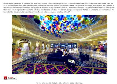 Las Vegas - Bellagio Hotel Lobby by Howard Goldbaum