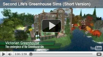 second life greenhouse sims video screen shot