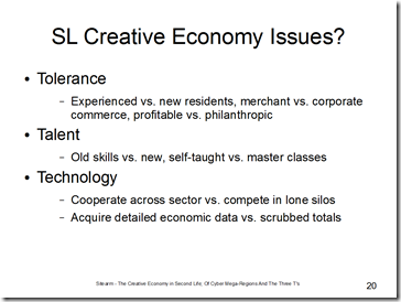 sl creative economy issues slide