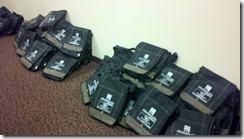 bags stuffed!