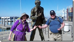 kim and james and jack london statue