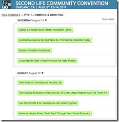 slcc 2011 commerce & marketing presentation summary screen shot