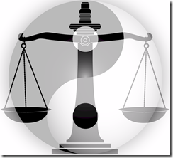 justice scales yin yang image