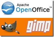 open office and gimp logos