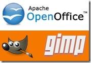 open office and gimp logos