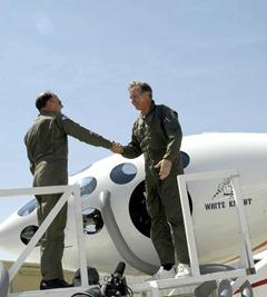 Burt Rutan White_Knight_Handshake