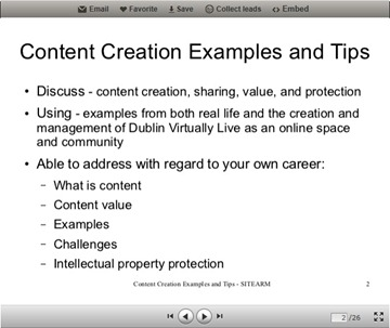 Content Creation Examples and Tips Screenshot