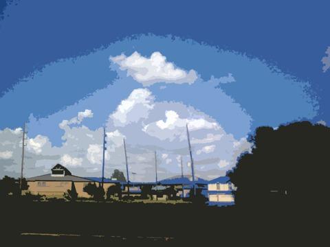 bayou church sky
